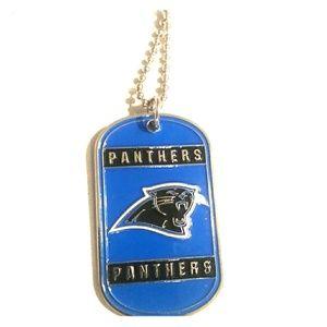 Carolina Panthers tags necklace